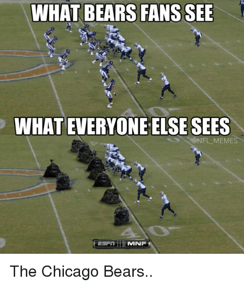 What Bears Fans See Whateveryone Else Sees Memes Mnf The Chicago