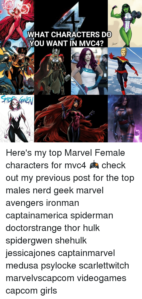 WHAT CHARACTERS DO YOU WANT IN MVC4? Here's My Top Marvel