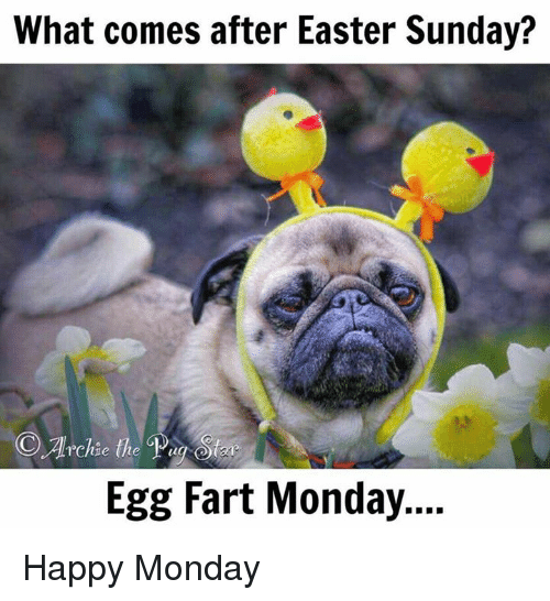 what comes after easter sunday egg monday happy