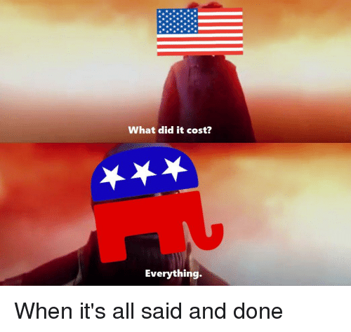 Politics Did And All What It Cost Everything