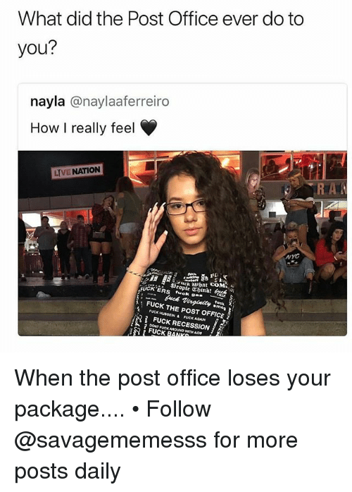 what does the post office do with letters to santa 25 best memes about recession recession memes 25524 | what did the post office ever do to you nayla 29052351