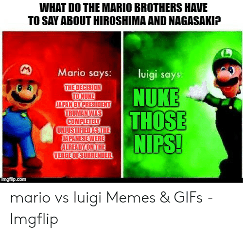 What Do The Mario Brothers Have To Say About Hiroshima And