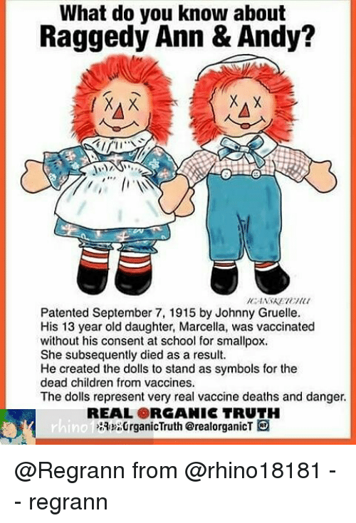 What Do You Know About Raggedy Ann Andy Patented September 7 1915