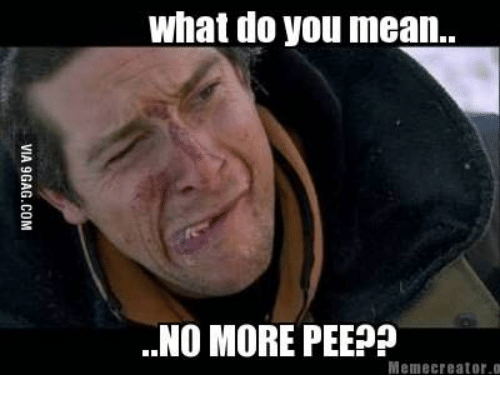 Creator, Means, and What: what do you mean..  ..NO MORE PEEP?  Meme creator o