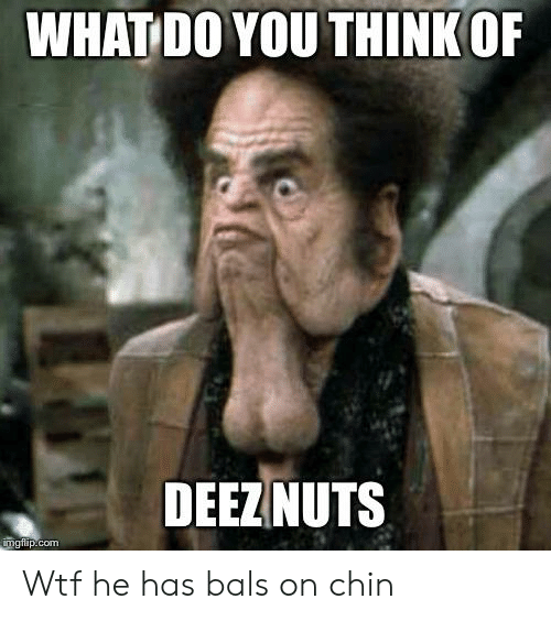 WHAT DO YOU THINK OF DEEZNUTS Imgflipcom Wtf He Has Bals on Chin