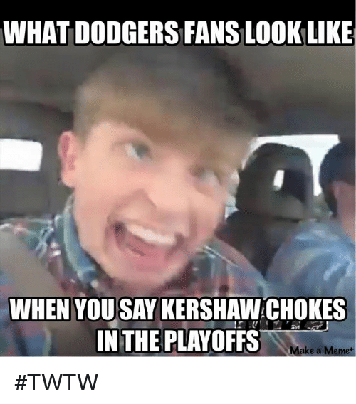 What Dodgers Fans Look Like When Yousay Kershaw Chokes In The