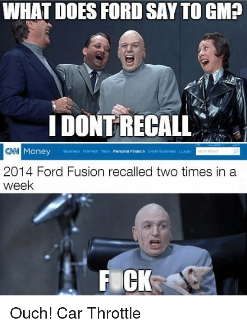 what does ford say to gmp idontrecall cnn money business 542213 ✅ 25 best memes about ford sayings ford sayings memes