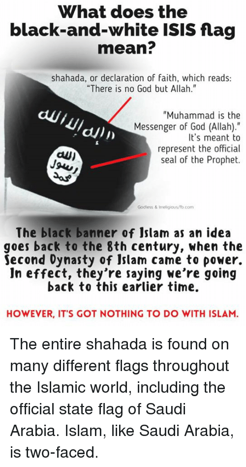 What Does The Black And White Isis Flag Mean Shahada Or Declaration