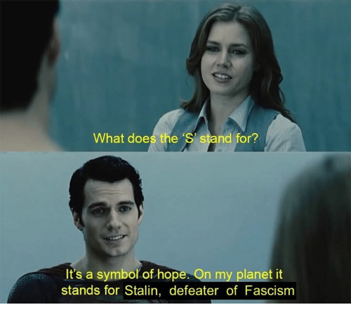 For Stalin