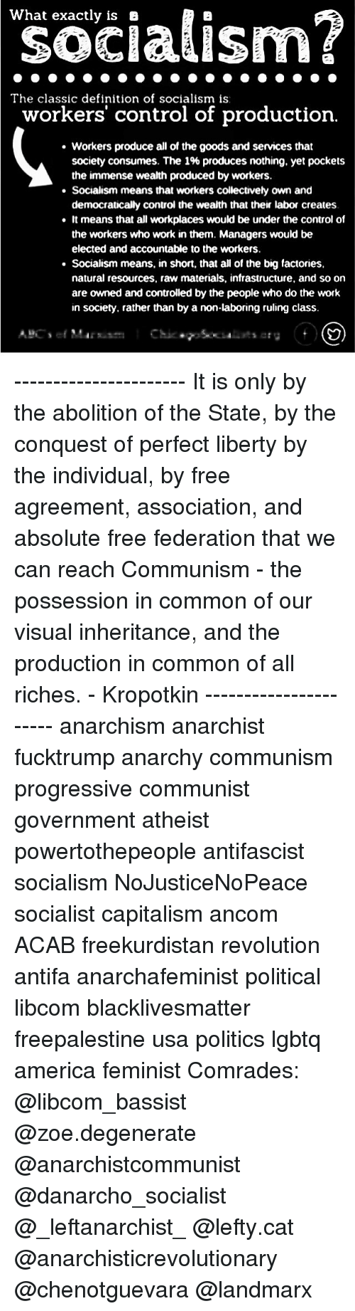 what exactly is a the classic definition of socialism is workers