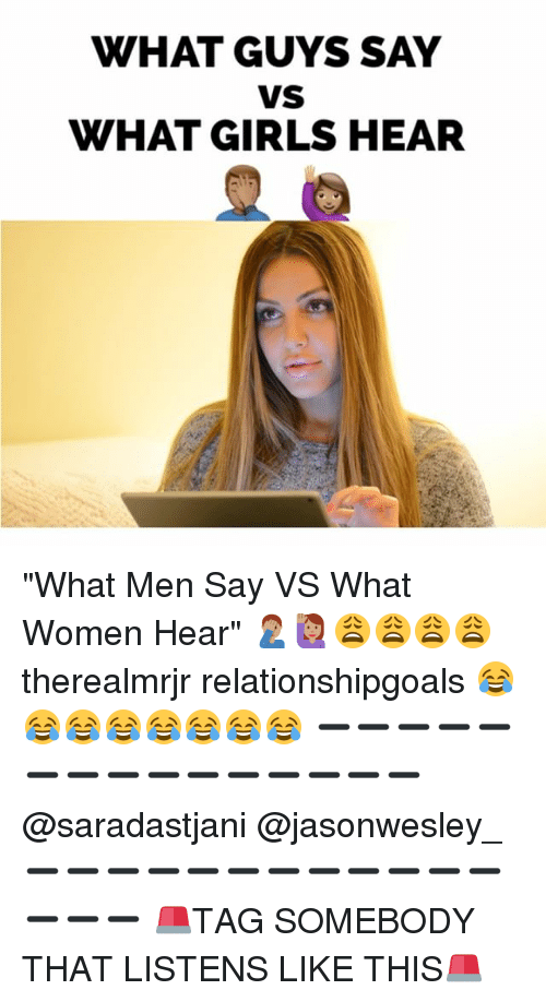 What women say and what men hear