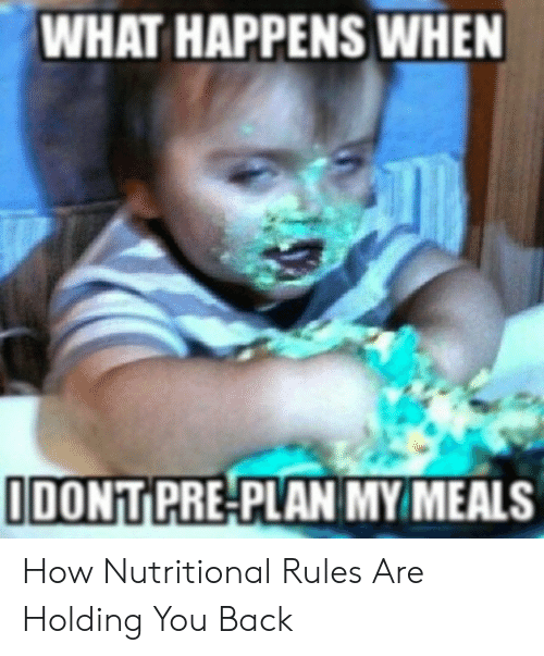 WHAT HAPPENS WHEN IDONT PRE-PLAN MY MEALS How Nutritional