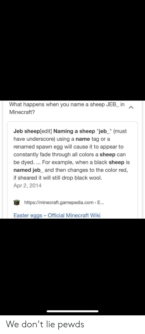What Happens When You Name A Sheep Jeb In Minecraft Jeb Sheepedit