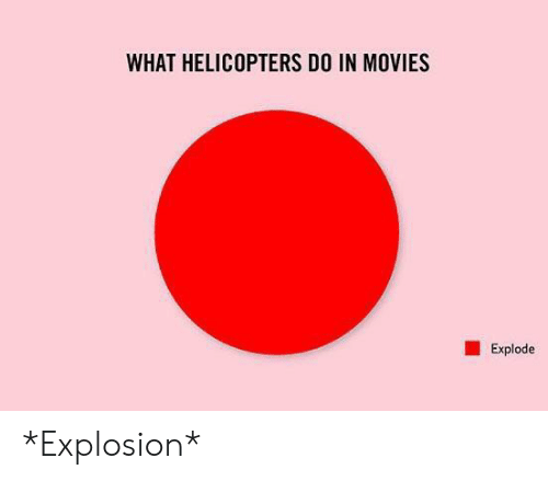 Movies, What, and Explosion: WHAT HELICOPTERS DO IN MOVIES  Explode *Explosion*