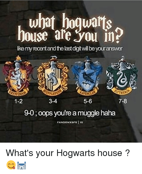 Memes, 🤖, And Hogwarts: What Hogwarts House Ate You In? Ike My