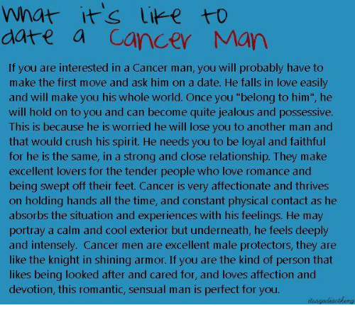 What to know about dating a cancer man