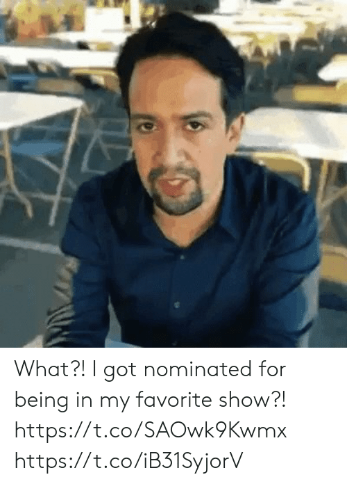 Memes, 🤖, and Got: What?! I got nominated for being in my favorite show?! https://t.co/SAOwk9Kwmx https://t.co/iB31SyjorV
