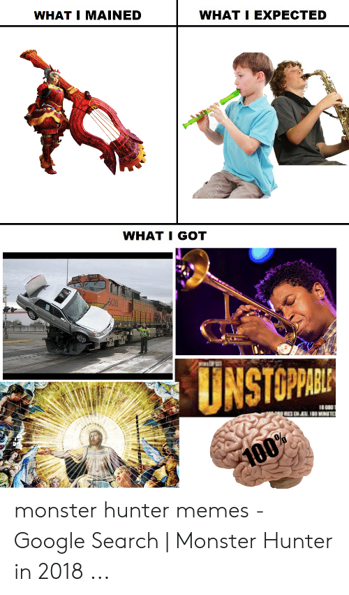 What I Mained What I Expected What I Got 5o05 Unstoparie 100