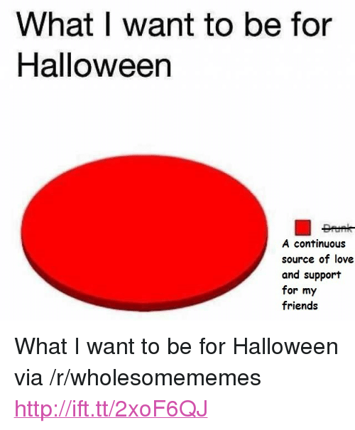 """Friends, Halloween, and Love: What I want to be for  Halloween  A continuous  source of love  and support  for my  friends <p>What I want to be for Halloween via /r/wholesomememes <a href=""""http://ift.tt/2xoF6QJ"""">http://ift.tt/2xoF6QJ</a></p>"""