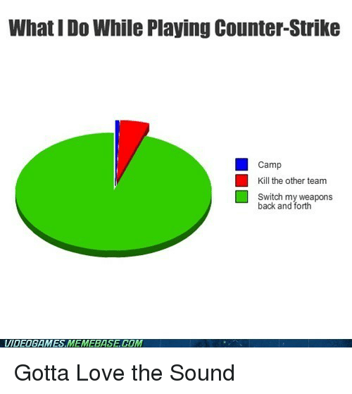 What IDo While Playing Counter-Strike Camp Kill the Other Team