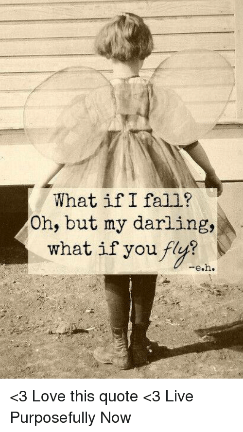 What If I Fall Oh But My Darling What If You F Eh 3 Love This