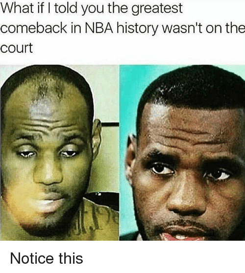 Nba, History, and You: What if I told you the greatest  comeback in NBA history wasn't on the  court Notice this