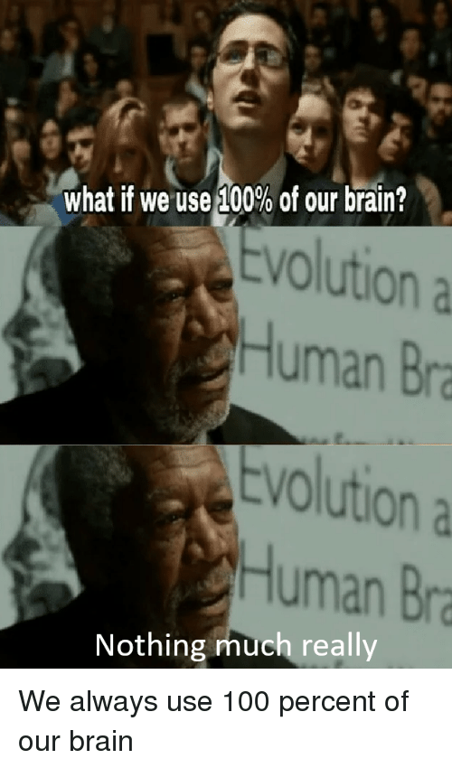 cd1b54241f6c9 What if We Use 100% of Our Brain  Evolution a Human Bra VO Volution ...