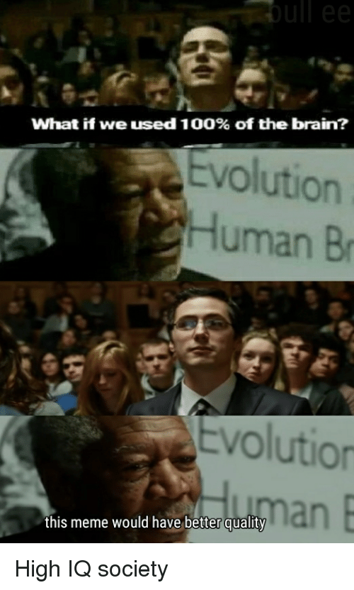What If We Used 100 Of The Brain Evolution Human Br
