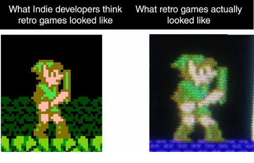Memes, 🤖, and Indie: What Indie developers think  What retro games actually  retro games looked like  looked like