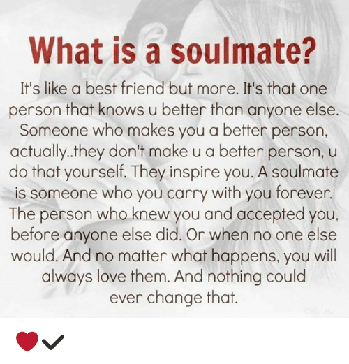 what is a soulmate it s like a best friend but more it s that one