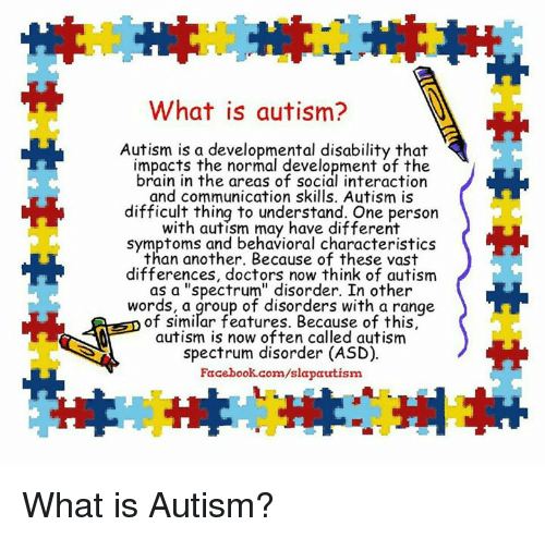 understanding the mysterious disability of autism An estimated 50,000 teens with autism become adults – and lose school-based autism services – each year around one third of people with autism remain nonverbal around one third of people with autism have an intellectual disability certain medical and mental health issues frequently accompany autism.