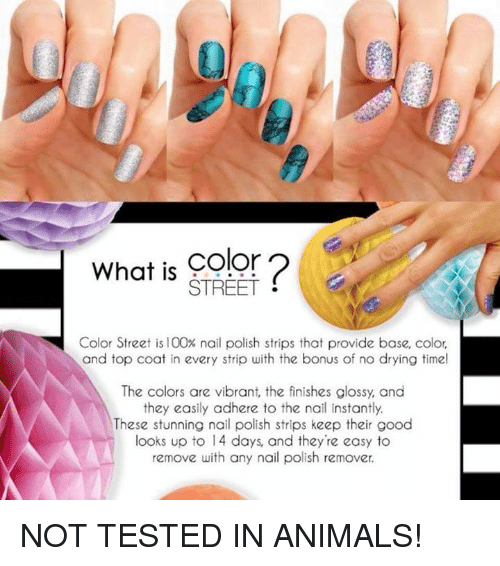 What Is COolor STREET Color Street Is 100% Nail Polish Strips That ...