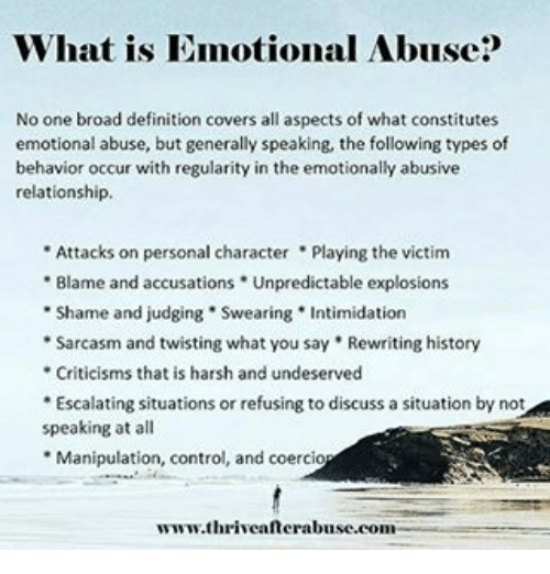 Memes, The Following, And Harsh: What Is Emotional Abuse No One Broad  Definition
