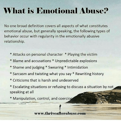Abusive and intimidating behaviour