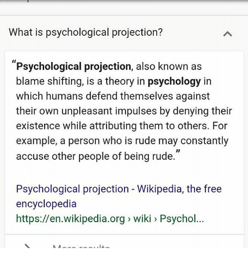 What Is Psychological Projection? Psychological Projection