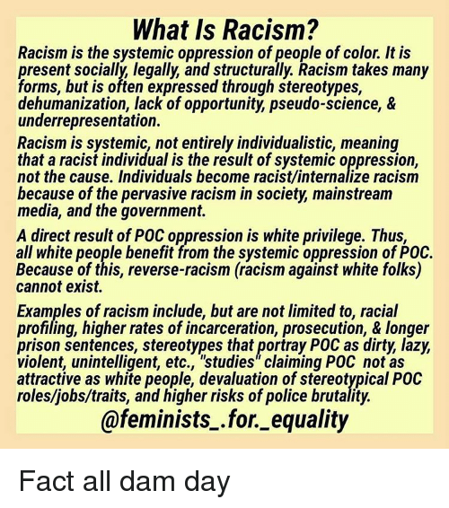 what causes racism