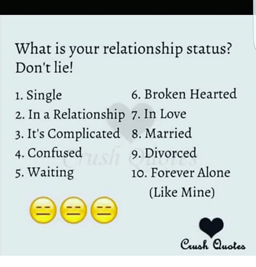What Is Vour Relationship Status Dont Lie 6 Broken Hearted 1