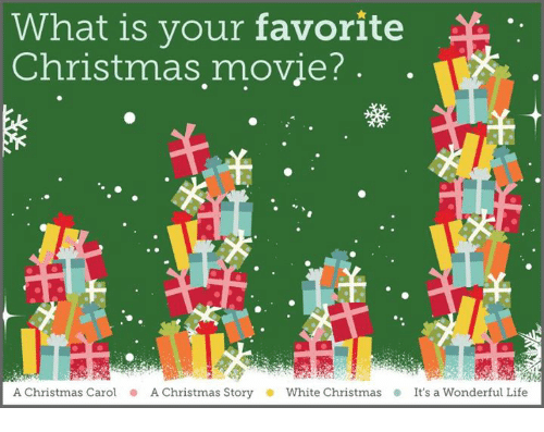 What Is Your Favorite Christmas Movie A Christmas Carol A Christmas Story White Christmas It 39 S