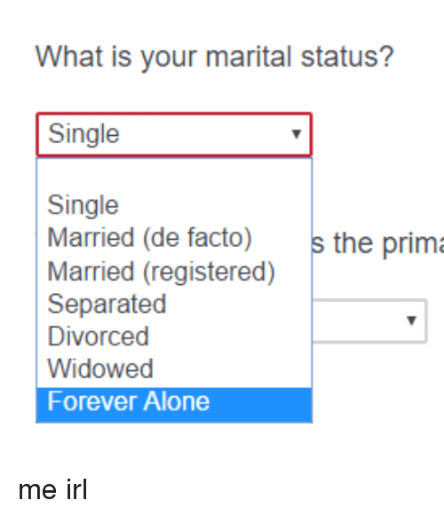 marriage status separated
