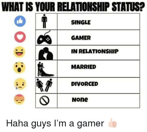 What Is Your Relationship Status Single Gamer In Relationship