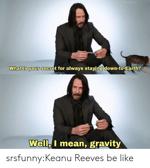 Be Like, Tumblr, and Blog: What is your secret for always staying down-to-Earth?  Well.I mean, gravity srsfunny:Keanu Reeves be like