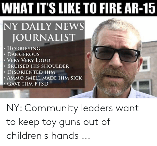 WHAT IT'S LIKE TO FIRE AR-15 NY DAILY NEWS JOURNALIST