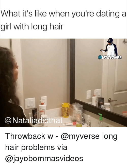 dating a girl with long hair meme he is still on dating website