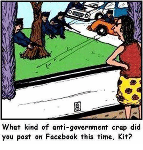 What Kind of Anti-Government Crap Did You Post on Facebook This Time