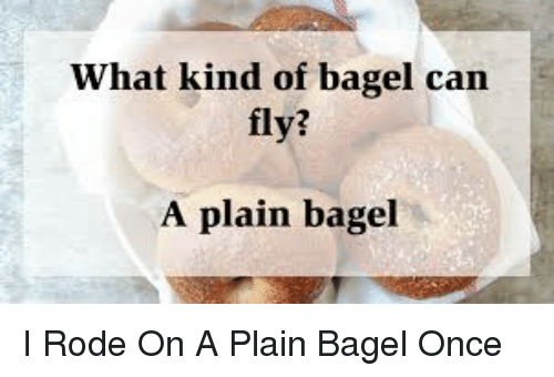 What kind of bagel can fly