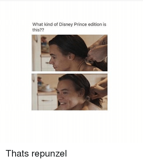 Disney, Memes, and Prince: What kind of Disney Prince edition is  this?? Thats repunzel