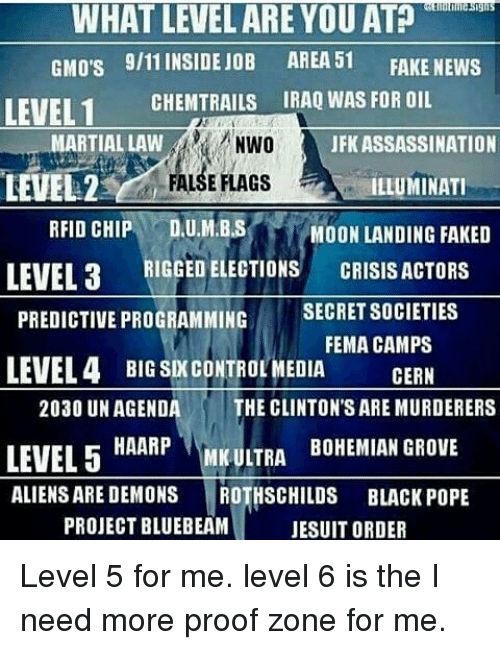 WHAT LEVELARE YOU AT GMO's 911 INSIDE JOB AREA 51 FAKE NEWS