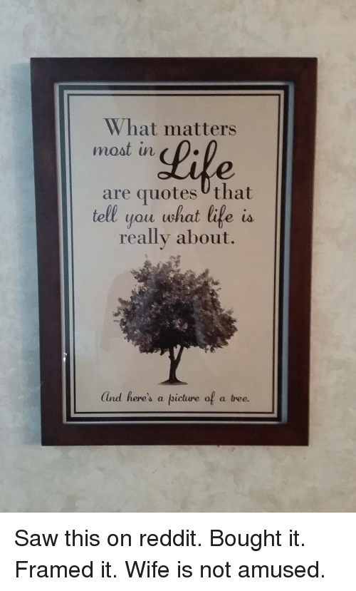 What Matters Most In Are Quotes That Tell You What Life Is Really