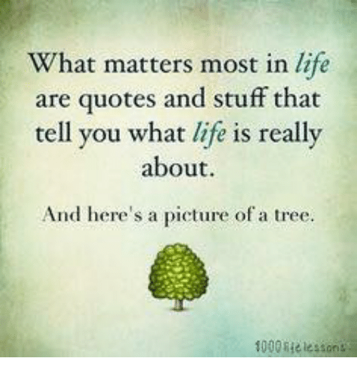 What Really Matters In Life Quotes: What Matters Most In Life Are Quotes And Stuff That Tell