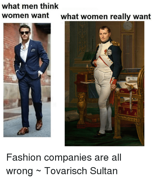 What women want men to wear